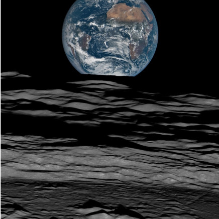 Michael Benson - Earth over the Lunar Horizon, Lunar Reconnaissance Orbiter, 12 October, 2015. 2016