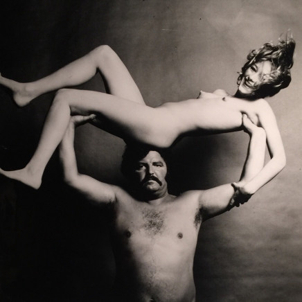 Guy Bourdin - Nude & Strongman in Joy, before 1972