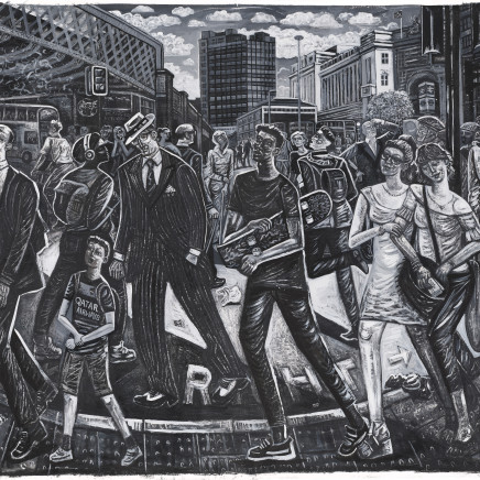 Ed Gray - Adoration of the Approach, Waterloo Station, 2018