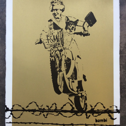 Dog Save the Queen (Gold screen print)