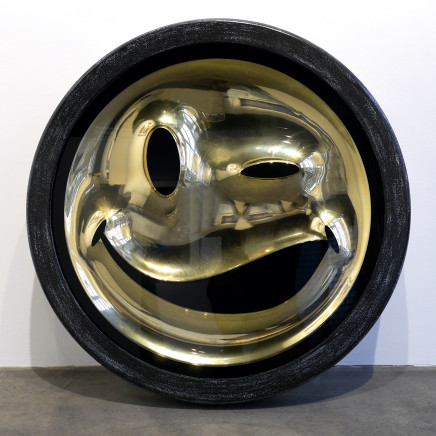 RYCA (Ryan Callanan), EMOJI Series - Wink Gold Chrome Smiley Face , 2013