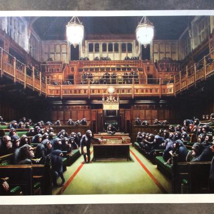 Banksy, Monkey Parliament , 2009