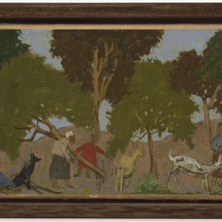 Grégoire Michonze - Composition aux chèvres, 1961