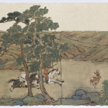 Peng Wei 彭薇 - Purusing a Deer 逐鹿圖