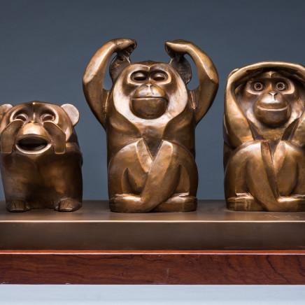 Huang Yongyu 黃永玉 - 猴 Monkey, 2016