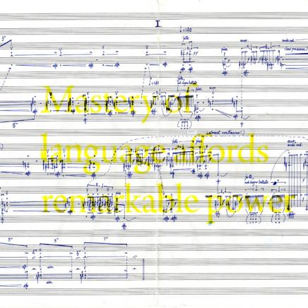 Young, Samson Kar Fai 楊嘉輝 - To Fanon (Mastery of language affords remarkable power), 2015