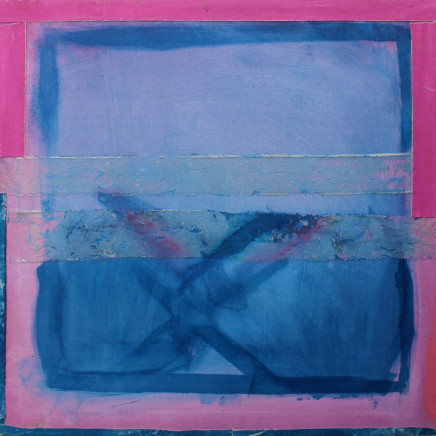 Sandra Blow RA - 'Blue and Pink Abstract'