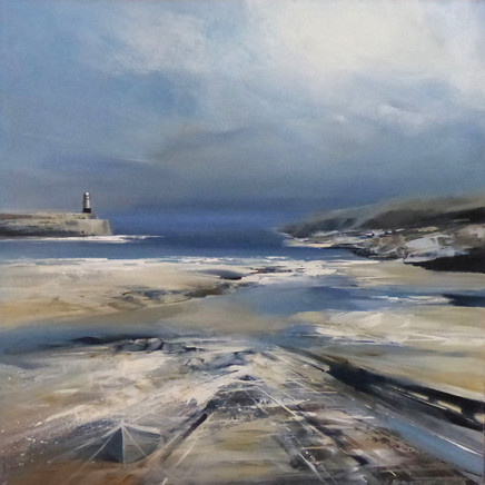 Jenny Hirst, Tide Receding, Town Beach St Ives, 2017