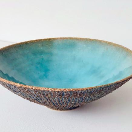 Sotis Fillipedes - Turquoise Line Texture Vessel, 2021