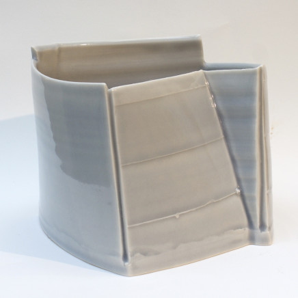 Carina Ciscato - Pale Blue-Grey Constructed Pot