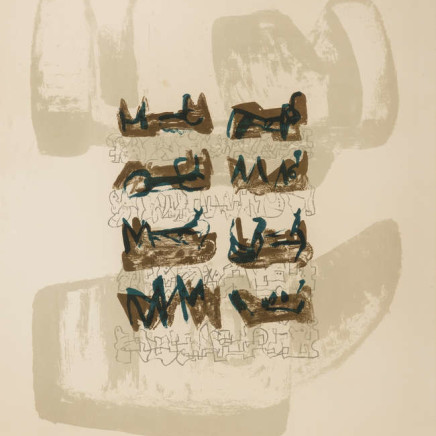 Henry Moore OM CH, Eight Reclining Figures on Rock Background (Cramer 43), 1963