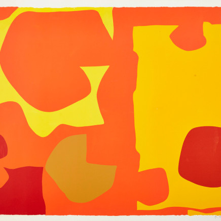 Patrick Heron - Six in Light Orange with Red in Yellow: April 1970