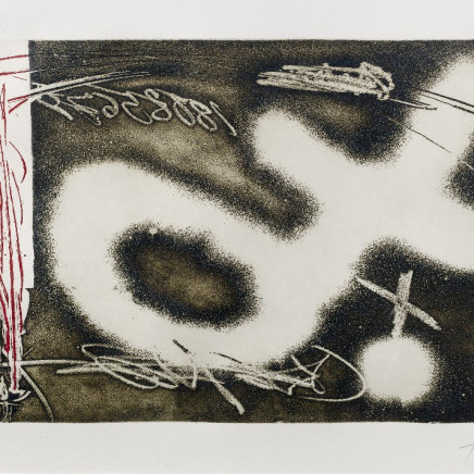 Antoni Tapies - Untitled from El Pendulo Inmovil, 1982
