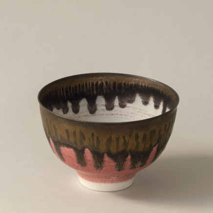 Peter Wills - Little River Grogged Red and Bronze Bowl
