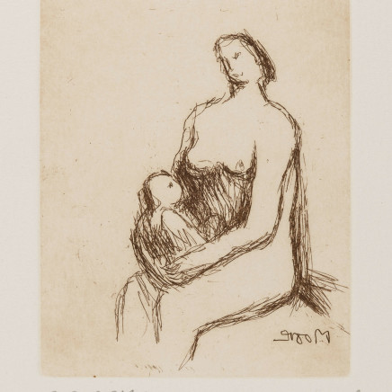 Henry Moore OM CH, Mother and Child (Cramer 703), 1983