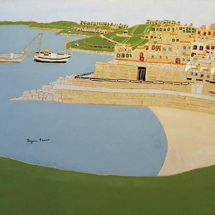 Bryan Pearce - Porthgwidden from The Island, 1993