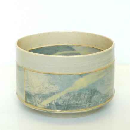 Emily-Kriste Wilcox - Short Vessel, Pale Blue Print with Yellow, 2017