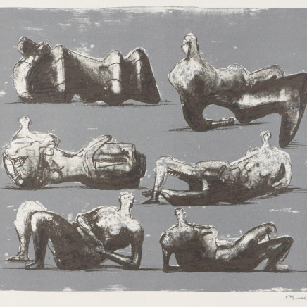 Henry Moore OM CH - Six Reclining Figures [Cramer 298], 1973