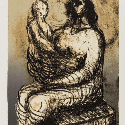 Henry Moore OM CH, Mother with Child on Lap (Cramer 651), 1982