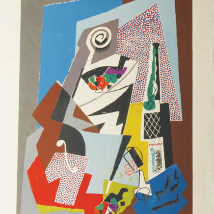 Gino Severini - Natura Morta con Violino (Still Life with Violin) plate 8, 1964/65