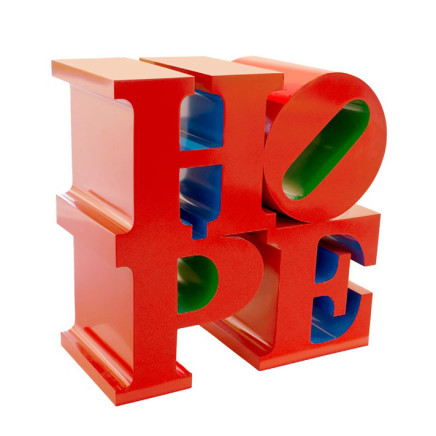 Robert Indiana - HOPE (Red/Blue/Green)