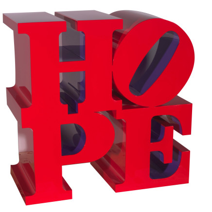 Robert Indiana - HOPE (Red/Violet)