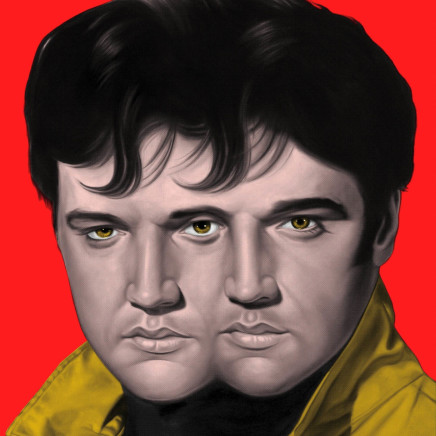 Ron English - Double Elvis