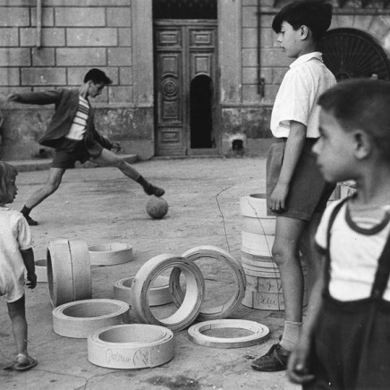 Herbert List, Boys Playing Soccer, Palermo, Italy, 1950