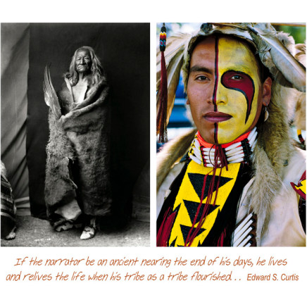 Jeff Thomas, Plate - 9 Wabudi-sapa (Black Eagle) and Kevin Haywahe: Two Assiniboine Men, 1991