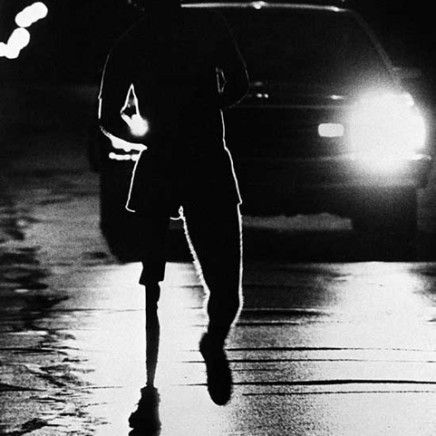 Terry Fox resumes his Marathon of Hope run in southern Ontario early July 13, 1980