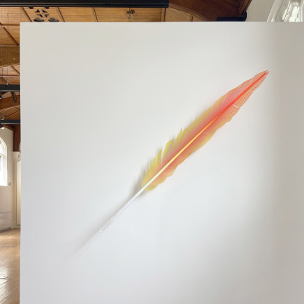 Neil Dawson - Macaw Tail Feather Red, 2019