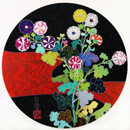 Takashi Murakami (b.1962) - Kansei Korin Red Stream