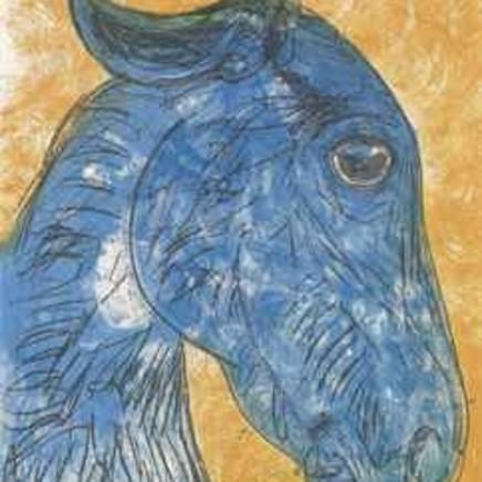 Dame Elisabeth Frink - Blue Horse Head