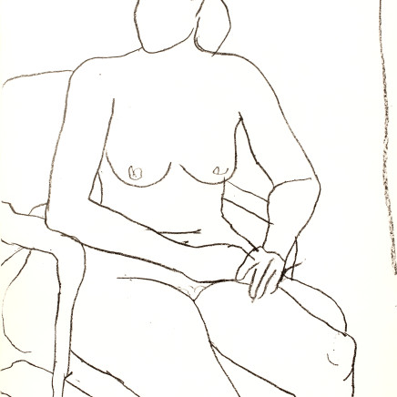 Richard Diebenkorn - Seated Nude, 1965