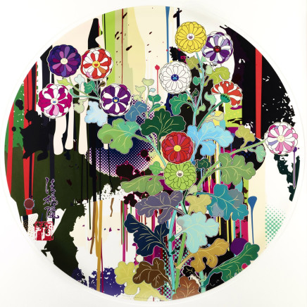 Takashi Murakami - I Recall the Time When My Feet Lifted Off The Ground, Ever So Slightly - Korin - Chrystanthemum;, 2010