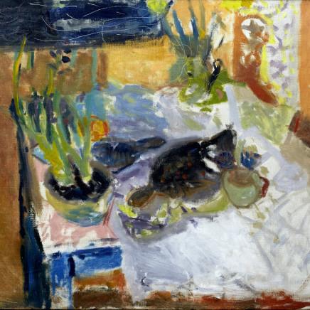 Patrick Heron - Night, Still Life with Hyacinths, Plaice and Lemon