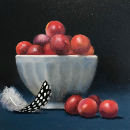 Bullis Plums, oil on board, 28cm x 33cm £675