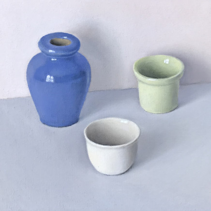 David Stubbs - Blue, White And Green On Grey And Pink