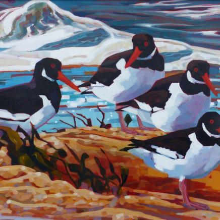Brin Edwards - Four Cornish Oyster catchers