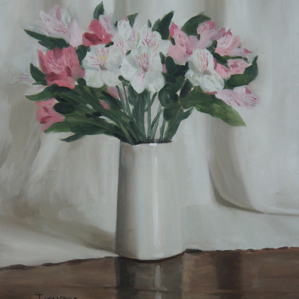 Sam Travers - Pink and White Lilies, 2018