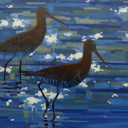 Brin Edwards - Two Black Tailed Godwits, 2018