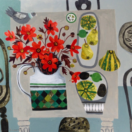 Vanessa Bowman - Garden Flowers and Pear , 2020