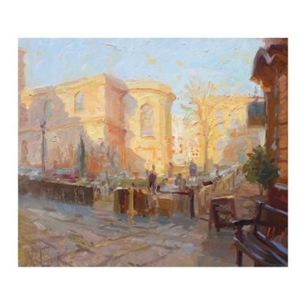 Norman Long MAFA - Winter Sun, St. Peter's Square, 2020