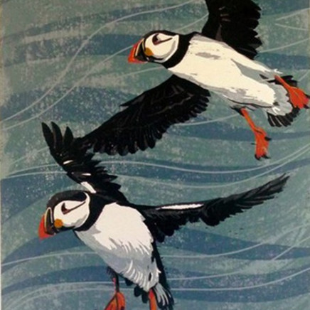 'South Stack Puffins' - SOLD