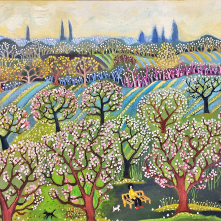 'In the Orchard', Oil on board, £650