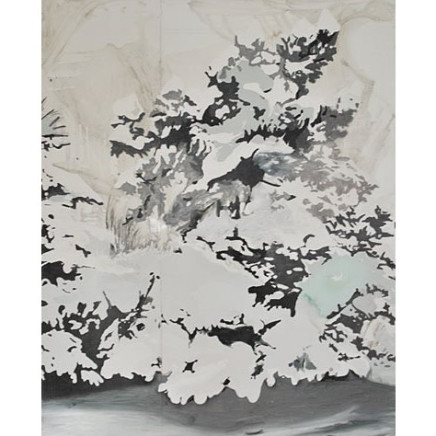 'Snow on Trees,' 2009, synthetic enamel on metal, 200 x 150