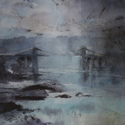 William Selwyn - Sunrise, Menai Bridge