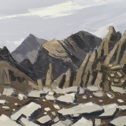 Kyffin Williams - View from Glyder Fach, looking back at Snowdon and Crib Goch, c1990s