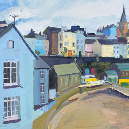Sarah Carvell - Cloud Cover, Tenby Harbour