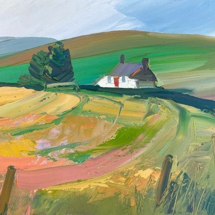 Sarah Carvell - View of Tyrpeg Mynydd from across the Field
